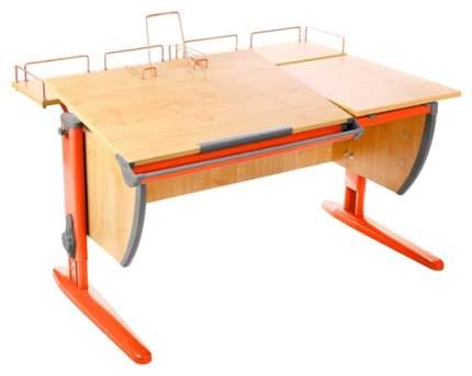 Парта Дэми СУТ-17-01 C двумя задними приставками Клен Оранжевый, 120х80 см