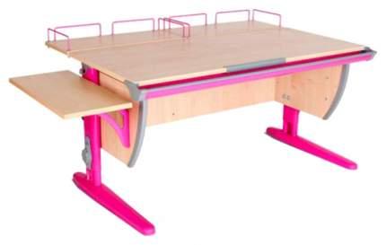 Парта Дэми СУТ-15-02 с двумя задними и боковой приставками Клен Розовый 120х55 см