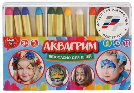 Краски для лица Multi Art 12026-R 12 цветов