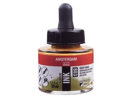 Акриловые чернила Royal Talens Amsterdam №803 золотой насыщенный 30 мл