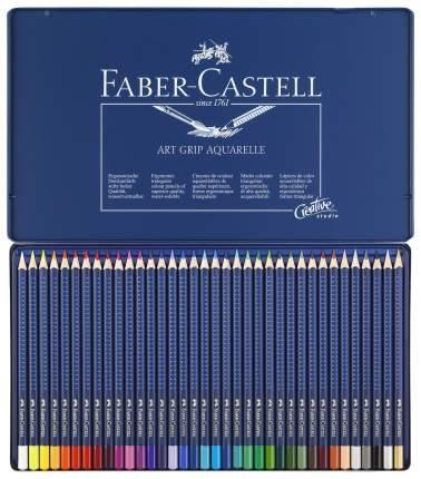 Акварельные карандаши Faber-Castell Art Grip Aquarelle в металлической коробке 36 шт.