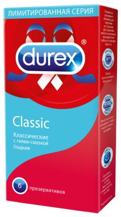 Презервативы Durex Classic анатомической формы, 6 шт