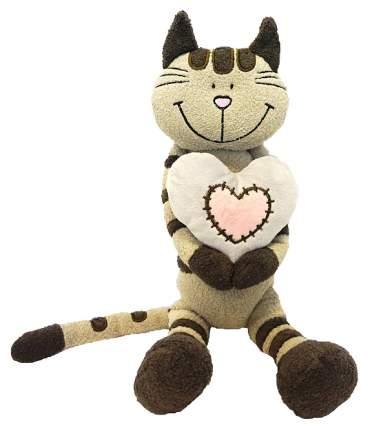 """Мягкая игрушка """"Кот Полосатик с сердцем"""", 33 см Maxitoys"""