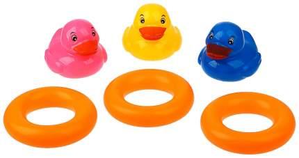 Игрушка для купания Крошка Я Утёнок с кругом 3629870 6 шт