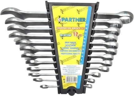 Набор комбинированных ключей Partner PA-3012MP