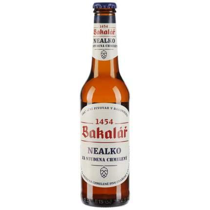 Пиво Bakalar безалкогольное светлое  пастеризованное фильтрованное 0,5% 0,33л стекло