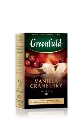 Чай черный Greenfield листовой vanilla cranberry 100 г