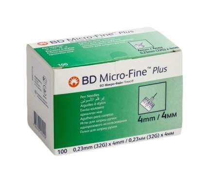 Иглы BD Micro-Fine Plus для шприц-ручки 0,23 х 4 мм 100 шт.