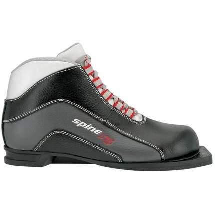 Ботинки для беговых лыж Spine X5 кожа 2019, grey, 36