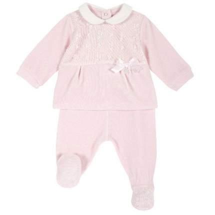 Комплект (кофта+брюки) Chicco для девочек р.62 цв.розовый