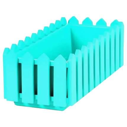 Ящик с поддоном «Лардо», цвет бирюзовый ЭЛЛАСТИК-ПЛАСТ