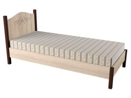 Односпальная кровать Глазов ADELE 5/4 дуб сонома, орех шоколадный, 1200 Х 2000 мм