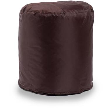 Пуф бескаркасный ПуффБери Цилиндр Оксфорд, размер S, оксфорд, коричневый
