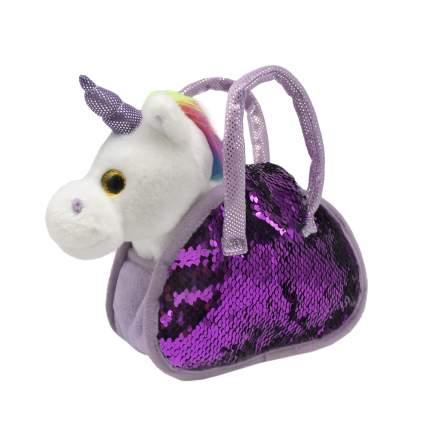 Мягкая игрушка Единорог в сумочке с пайетками Пушистые друзья JB0571973