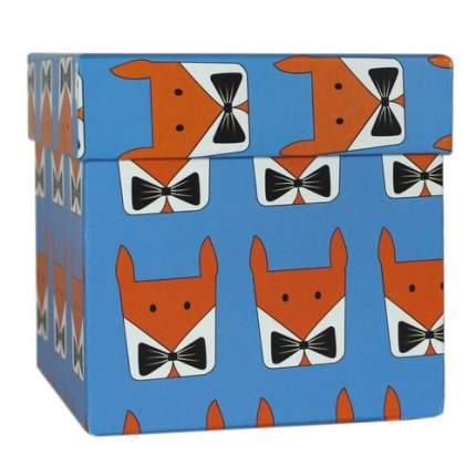 """Коробка подарочная """"Лисы"""", 9,5 х 9,5 х 9,5 см"""