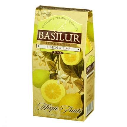 Чай Basilur Волшебные фрукты - Лимон и лайм черный с добавками 100 г
