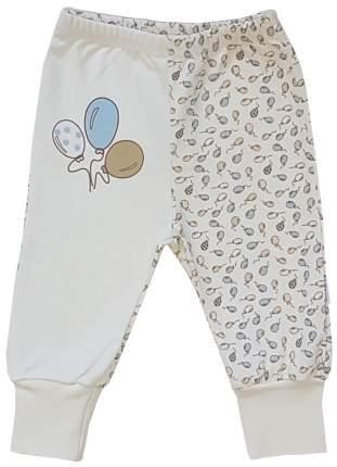 Ползунки - штанишки Папитто с манжетом Воздушные шарики цвет голубой, экрю р.20-62