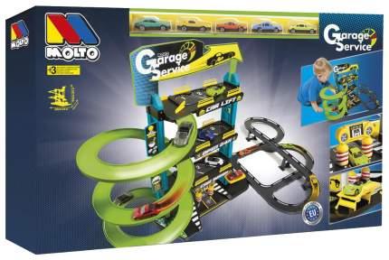 Паркинг Molto с треком и пятью машинками, 4 уровня