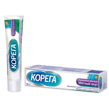 Крем для фиксации зубных протезов Corega Ежедневная защита, мятный вкус, 70 г
