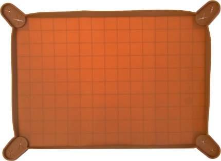 Силиконовый коврик-лоток с бортиком Premium Pet Japan для пелёнок 58х44х1,2см, Шоколадный