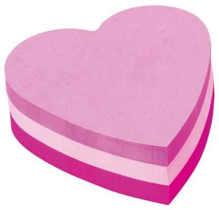 Стикеры фигурные 3M Сердце, 70х70 мм, Неоновые Розовые, 225 листов
