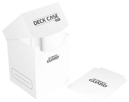 Коробочка Ultimate Guard на 100 карт с отделением для кубиков, белая