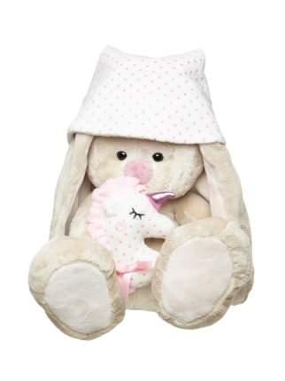 Мягкая игрушка BUDI BASA Зайка Ми с розовой подушкой-единорогом, 23 см