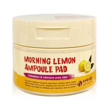 Пады пропитанные эссенцией  Eyenlip Morning Lemon Ampoule Pad