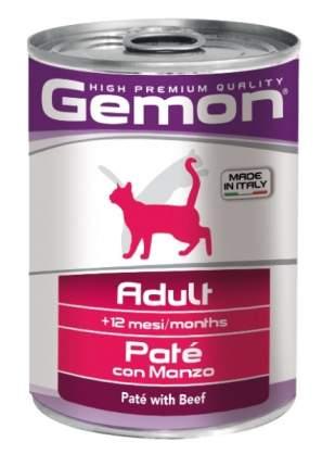 Консервы для кошек Gemon Adult, паштет с говядиной, 400г