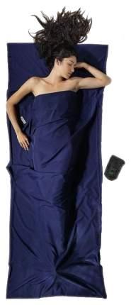 Вкладыш в спальник Cocoon Microfiber Travelsheet темно-синий 220X90 см