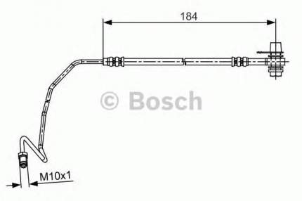 Шланг тормозной системы Bosch 1987481534