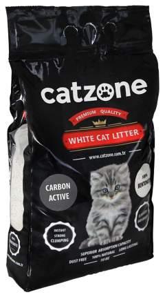 Комкующийся наполнитель для кошек Catzone Active Carbon бентонитовый, 10 кг, 30 л