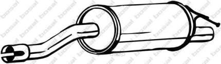 Глушитель выхлопной системы bosal 200091