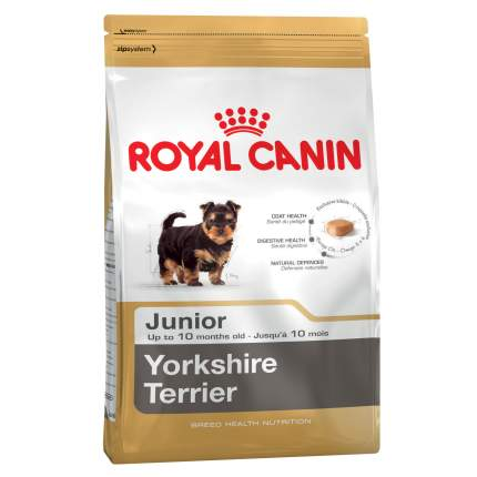 Сухой корм для щенков ROYAL CANIN Yorkshire Terrier Junior, птица, 0.5кг