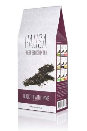 Чай Pausa черный с чабрецом и мелиссой 90 г