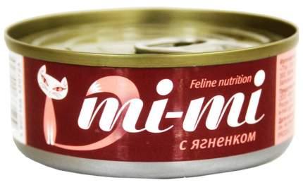 Консервы для кошек и котят Mi-mi с ягненком 80 г, 24 шт
