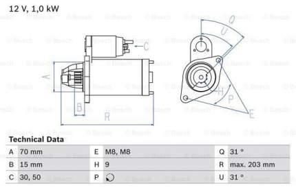 Стартер Bosch 0 986 019 940