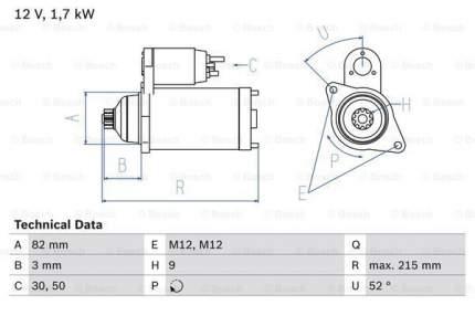 Стартер Bosch 0 986 024 250
