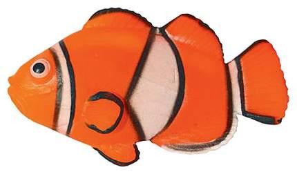 Декорация для аквариума JELLY-FISH Рыба-Клоун неоновая, силикон, 9,7х14х2,5 см