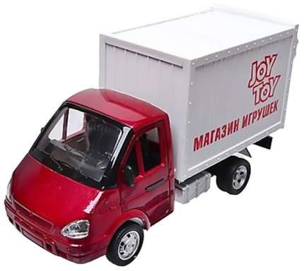 Инерционная машинка PLAYSMART Грузовой фургон – Магазин игрушек (свет, звук), 1:27