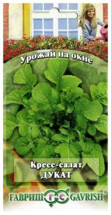 Семена Кресс-салат Дукат, 1 г Гавриш