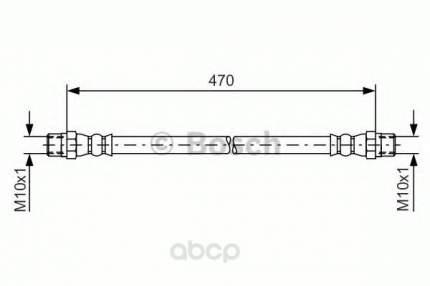 Шланг тормозной системы Bosch 1987476392