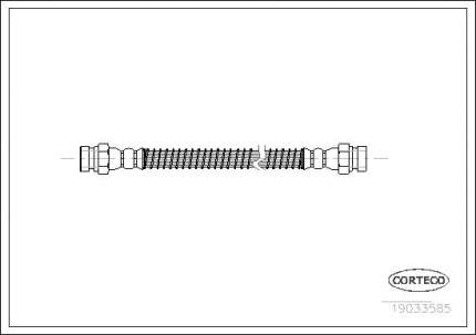 Шланг тормозной CORTECO 19033585