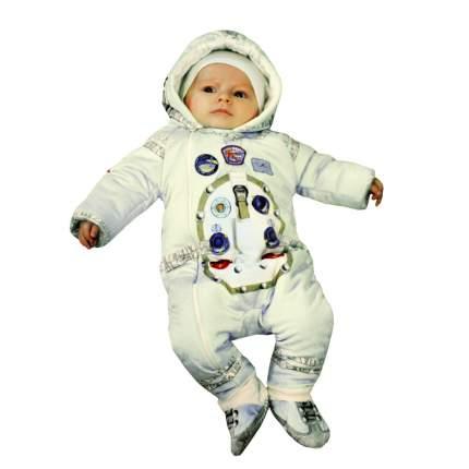 Комбинезон утепленный Папитто с капюшоном Космонавт экрю 11-521 р.22-68