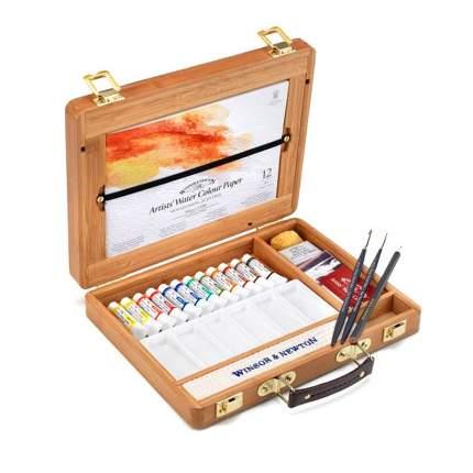 Акварель Winsor&Newton Professional Bamboo Box Tubes 12 цветов