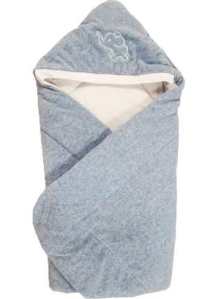 Конверт-одеяло Папитто велюр с вышивкой Голубой меланж 2157