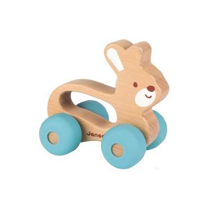 Деревянная игрушка Janod Зайчик каталка J04612