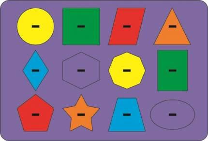 Головоломка Геометрия Монтессори, цветная 630140