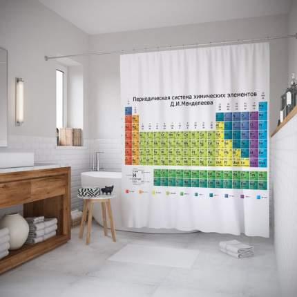 Шторка для ванной JoyArty «Таблица Менделеева» 180x200 см