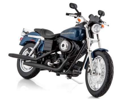 Мотоцикл Maisto Harley-Davidson 2004 Dyna Super Glide Sport, синий